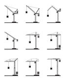 Different tower cranes Stock Photos