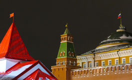 Different towers next to the Kremlin. 2016 stock images