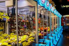 Wallpaper: Toy machines. Different toys in the machines. Minions for example. Las Vegas - EEUU Stock Photography