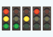 Different Traffic Light Signals Stock Images