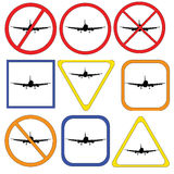 Different traffic signs on the plane. raster Stock Image