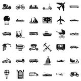 Different transport icons set, simple style. Different transport icons set. Simple style of 36 different transport vector icons for web isolated on white Royalty Free Stock Photography