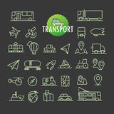Different transport icons vector collection. Web and mobile app Royalty Free Stock Images