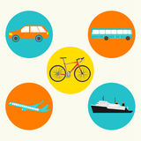 Different Transportation Icon Vector Design Royalty Free Stock Photo