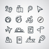 Different transportation icons collection Royalty Free Stock Image