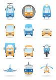 Different transportation mashines Stock Image