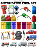 Different transportation and petrol Stock Image