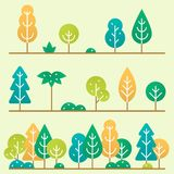 Different trees and bushes set. Stock Image