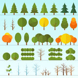 Different trees collection isolated Stock Images