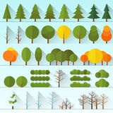 Different trees collection isolated Stock Image
