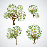 Different trees royalty free illustration