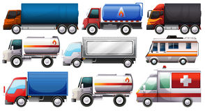Different trucks Stock Photo