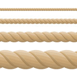 Different twine brown thickness rope. Royalty Free Stock Photography