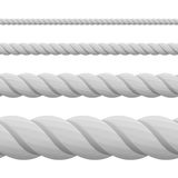 Different twine gray thickness rope. Stock Image