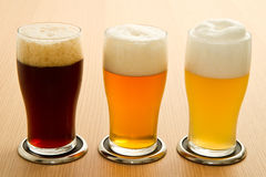 Different type of beer. Three different type of beer Stock Photography