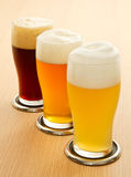 Different type of beer Stock Photos