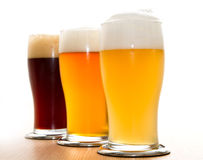 Different type of beer. Three different type of beer Stock Photos