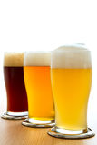 Different type of beer. Three different type of beer Stock Images