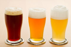 Different type of beer Royalty Free Stock Photo