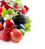 Different type of berry fruits isolated Royalty Free Stock Image
