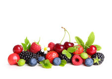 Different type of berry fruits isolated Stock Image