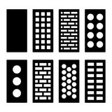 Different Type Bricks Icons Set. Vector. Illustration Stock Image