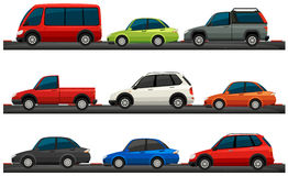 Different type of cars Stock Photos