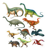 Different type of dinosaurs Royalty Free Stock Photography
