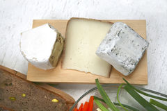 Different type of french cheeses Stock Image