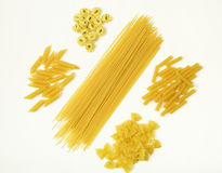 Different type of italian pasta Stock Photography