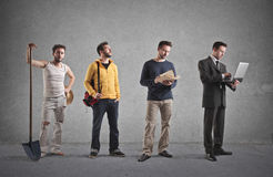 Different type of men Stock Photo
