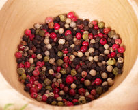 Different type of peppercorns Stock Photography