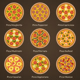 Different type of pizza Royalty Free Stock Photography