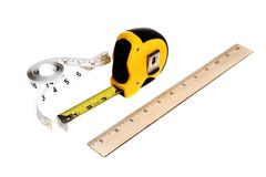 Different type of rulers Stock Image