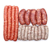 Different type of  sausage Stock Photo