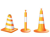 Different type of Traffic cones Royalty Free Stock Image