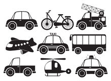 Different type of vehicles Stock Image