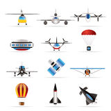 Different types of Aircraft Illustrations stock photography