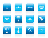 Different types of Aircraft Illustrations and icons Stock Photos