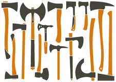 Different types of axes. stock photos