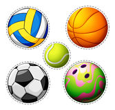 Different types of balls Stock Photos