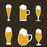 Different types of beer Stock Photos