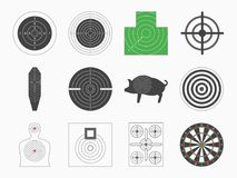 Different Types Board Target Set. Vector. Different Types Board Target Set for Military or Hunter Competition, Game, Hobby and Sniper Training. Vector Stock Photos