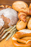 Different types of bread and bakery products Stock Photography
