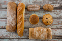 Different types of bread Royalty Free Stock Photo