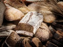 Different types of bread royalty free stock photos