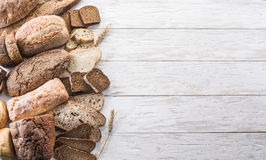 Different types of bread. royalty free stock images