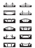 Different types of bridges. Vector illustration stock illustration