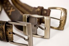 Different types of buckles Stock Images