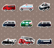 Different types car stickers. Vector illustration of different types car stickers,cute cartoon vector illusttration Stock Photo